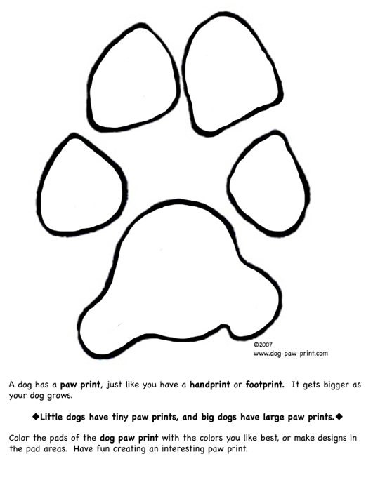 Paw Print Coloring Page Images