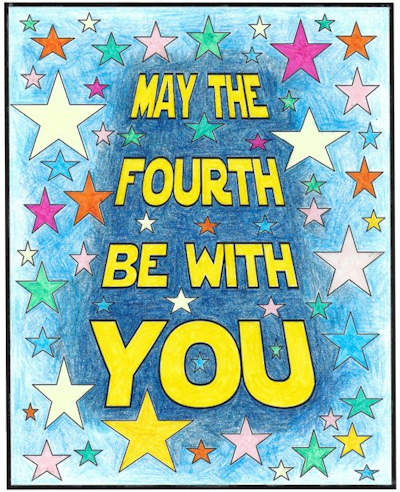May The 4th Be With You Funny: May The Fourth Be With You Colouring