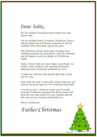 Sample Christmas Letters To Family And Friends.Free Printable Personalised Father Christmas Letters