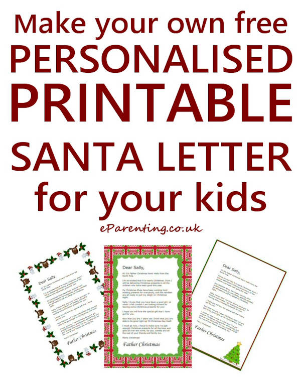 It is a photo of Santa Letters Printable in surveillance