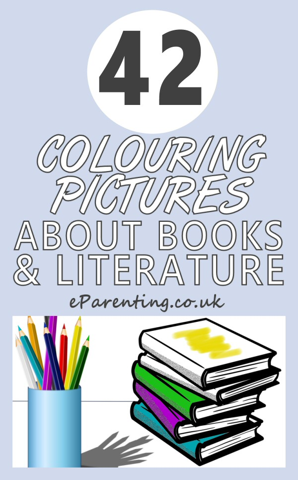 Colouring Pictures About Books and Literature