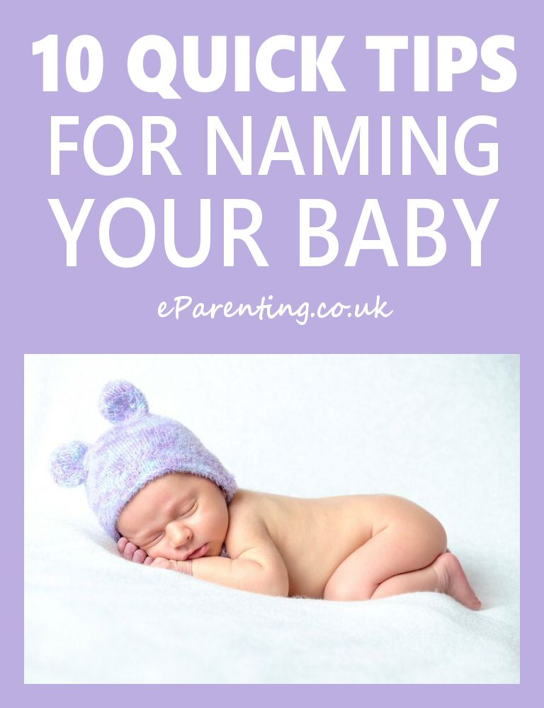 10 Quick Tips For Naming Your Baby
