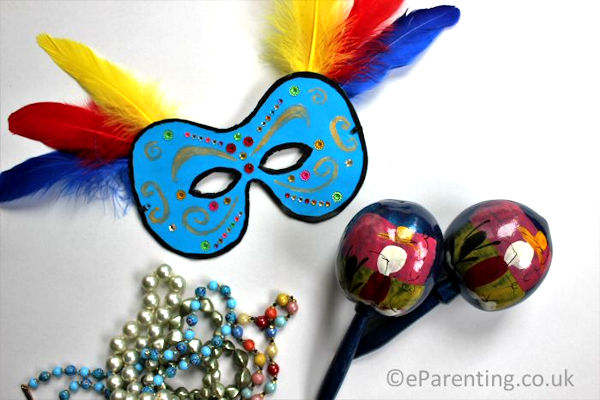 How to make a carnival mask