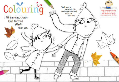 Free Printable Charlie & Lola Colouring Picture