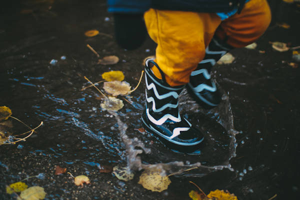 Child in Wellies - Going out in the rain