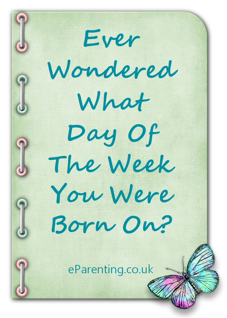 Ever Wondered What Day Of The Week You Were Born On?