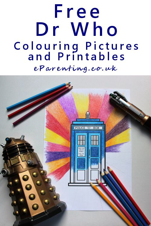 Doctor Who Colouring Pages and Free Printables