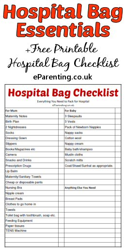 What to Pack For Hospital When Giving Birth + Free Printable Hospital Bag Checklist