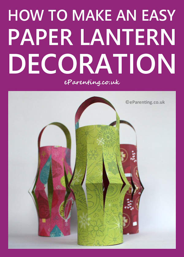 How to Make a Really Simple & Easy Paper Lantern Decoration