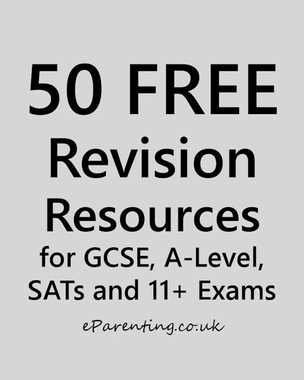 50 Free Revision Resources for GCSE, A-Level 11+ and SATs