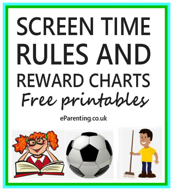 Screen Time Rules and Reward Charts Printables