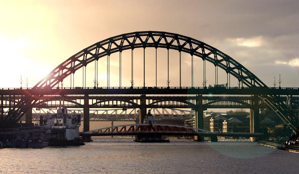 Tyne Bridge Newcastle, North East England