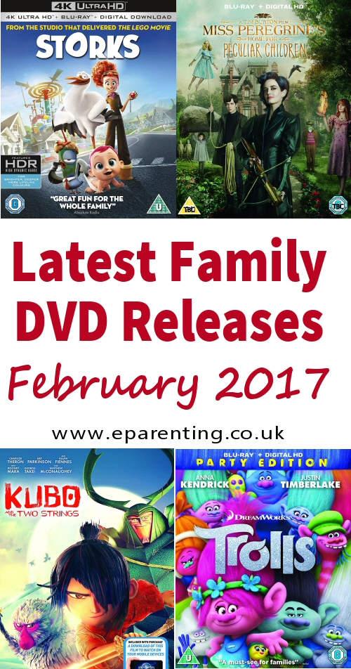 Family Movies on DVD January - February 2017