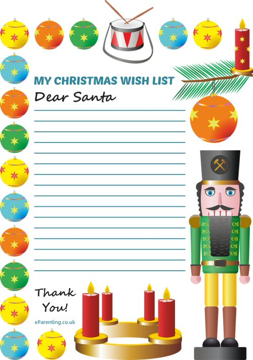 photograph relating to Free Printable Christmas Wish List called Xmas Drive Checklist Free of charge Printable